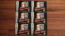 Classic NES Super Mario Bros - Game Boy Advance GBA Instruction Manual ONLY