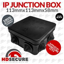 1 x Black CCTV IP Junction Box Outdoor 113x113x58mm Large IP55 Terminal Box UK