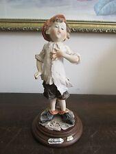 G. Armani Capodimonte Italy Handpainted Porcelain Figurine Boy.Signed