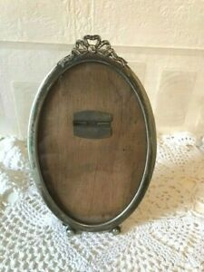 Early 20th Century Vintage EPNS Photo Frame Made in England Ribbon & Bows