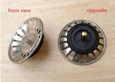Kitchen Basin Drain Dopant Sink Strainer Basket Leach Waste Plug Steel ABCU