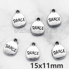 10Pcs White Dancing Acrylic Angel Tibetan Silver Wings Charms Pendants 17.5x28mm