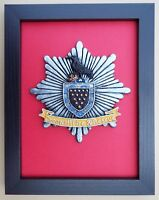Large Scale Framed CORNWALL FIRE & RESCUE SERVICE Cap Badge Plaque Model