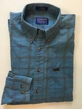 Pendleton Men's L/S Shirt Size M Medium Blue Plaid