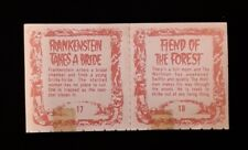 TA78 Rare Vintage Universal Pictures MONSTER FLIP MOVIES #17 & #18