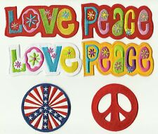 LOT 6 ECUSSON PATCH PATCHE THERMOCOLLANT PEACE AND LOVE