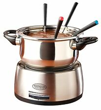 Nostalgia Electrics Stainless Steel Electric Fondue Pot, FPS200 New