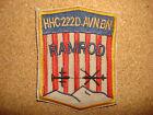 US HHC 222nd AVIATION Battalion RAMROD Machine Embroidered Patch