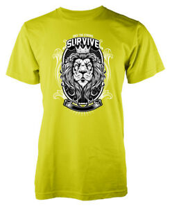 Only the Strong Survive Lion King of the Jungle Adult T-Shirt