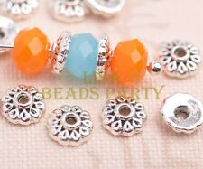 100pcs 6mm Round Tibetan Silver Bead Caps Charms Spacer Beads Jewelry Findings