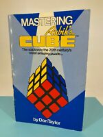 Vintage 1981 - Mastering Rubik's Cube - Puzzle Game Instruction Book