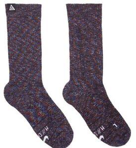 Nike ACG Kelley Ridge Crew Socks - LARGE 8-12 - CV8989-001 Wool Multicolor Lab