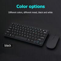 Ulti-thin 2.4GHz Wireless 77 Keys Keyboard 1600DPI Mute Optical Mouse Combo Set