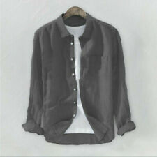 Camicie casual e maglie da uomo senza marca a lunghezza della manica manica lunga in cotone