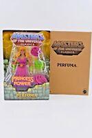 Masters of the Universe Classics Perfuma MOC w/ mailer Filmation HeMan SheRa