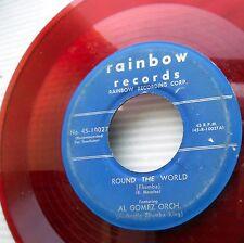 AL GOMEZ ORCHESTRA Round World Miami Beach RED VINYL 1950 LATIN Rhumba 45 e5203