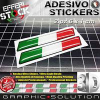 Adesivo Adesivi Sticker 3D ITALY ITALIA FLAG BANDIERA AUTO MOTO 2PZ Resinati