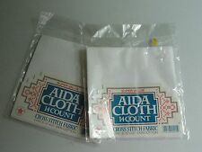 Lot of 2 NEW Cross Stitch 14 Count White Aida Cloth's