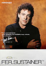 Journey Neal Schon 1992 Fernandes Sustainer Japan Rare Promo Poster Original