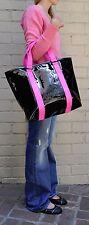 Marc By Marc Jacobs Shiny Designer Handbags Shoulder Bag Purse Tote Black Pink M