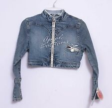 NWT Apple Bottoms Girls Cropped Denim Jeans Jacket Size S
