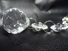 "6.5"" Long Chandelier Lamp Crystal Clear Faceted Hanging Ball Prism Charm Pendant"