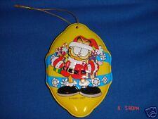 Garfield Christmas Ornament, New in Box, 2001, Tin