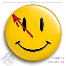 """WATCHMEN COMIC SMILEY FACE LOGO BADGE with blood 25mm 1"""" Badge"""