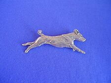 Basenji Pin Running Pewter #40E coursing Dog Jewelry by Cindy A. Conter