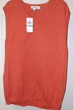 CK Calvin Klein Tigrillo Orange V-Neck Cotton Modal Sweater Vest  $78 XLarge NWT