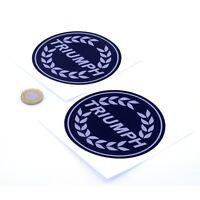 Triumph Badge Sticker Decal Vinyl Motorbike STICKERS 100mm x2 Black