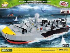 COBI PT 305 / 2376 / 480 blocks WWII Small Army US Army  torpedo ship  boat