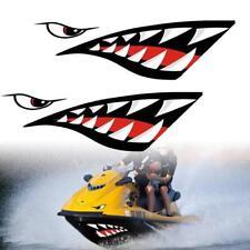 2Pcs Car Kayak Shark Mouth Teeth Graphics PVC Sticker Decal durable Waterproof