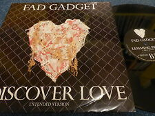 FAD GADGET - I DISCOVER LOVE - EXTENDED VERSION , MUTE 1983 , EX/EX ,12''