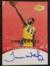 2012-13 James Worthy 50/50 onCard Auto Panini Preferred Red  ebay 1/1 LAKERS