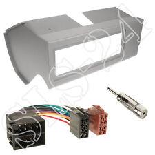Fiat Panda Autoradio 1-DIN Blende Radiorahmen grau + ISO Adapterkabel + Antenne