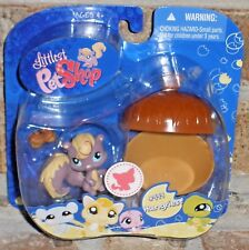 Littlest Pet Shop purple cream SQUIRREL w LARGE ACORN 999 VHTF 2009
