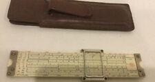 """Frederick Post 1461 Sun Hemmi Versalog Pocket Slide Rule Case Japan 6""""L Vintage"""