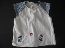 T-shirt marin bébé garçon / tee t shirt fabriqué en France Taille 12 mois, 1 an