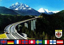 Europabrücke bei Innsbruck  , Ansichtskarte , gelaufen