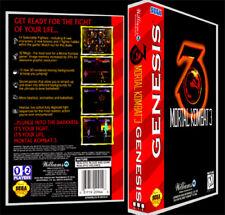 Mortal Kombat 3 - Sega Genesis Reproduction Art Case/Box No Game.