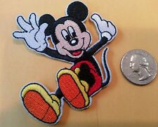 "MICKEY Mouse sliding  embroidered iron on patch 2.5 x 3"" NEVER APPLIED"