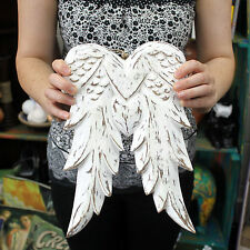 Hand Crafted Wooden Angel Wings 31cm - Wall Hanging Ornament / Table Decoration