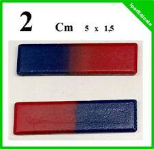 calamite magneti magnete barrette rettangolari a 2 poli 5 cm x 1,5 cm in blister