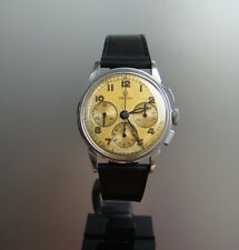 Vintage WWII era Omega Steel Chronograph Ref 2277-1 Cal 27 CHRO C12 PC AM 1944