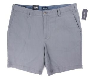 NEW MENS NAUTICA CASTLE ROCK GRAY 8.5'' CLASSIC FIT STRETCH DECK SHORTS SIZE 42