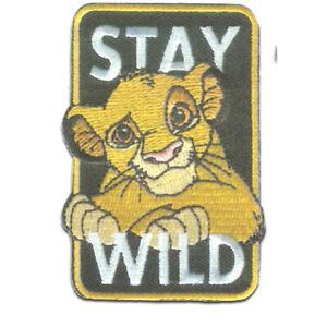 Disney © Der König der Löwen Simba Stay Wild - Aufnäher / Bügelbild
