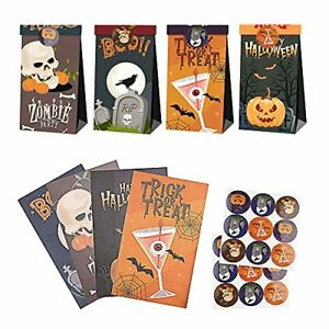 12pcs Halloween Paper Gift Bags - Halloween Candy Bags Candy Pumpkin Party
