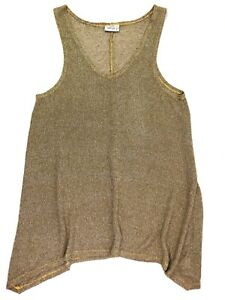 Feather sleeveless asymmetrical sweater green size 1 small lagen look