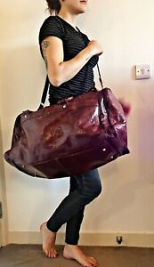 Vintage Hippie Travel Bag Leather Large Moroccan Overnight Big Duffle Holdall